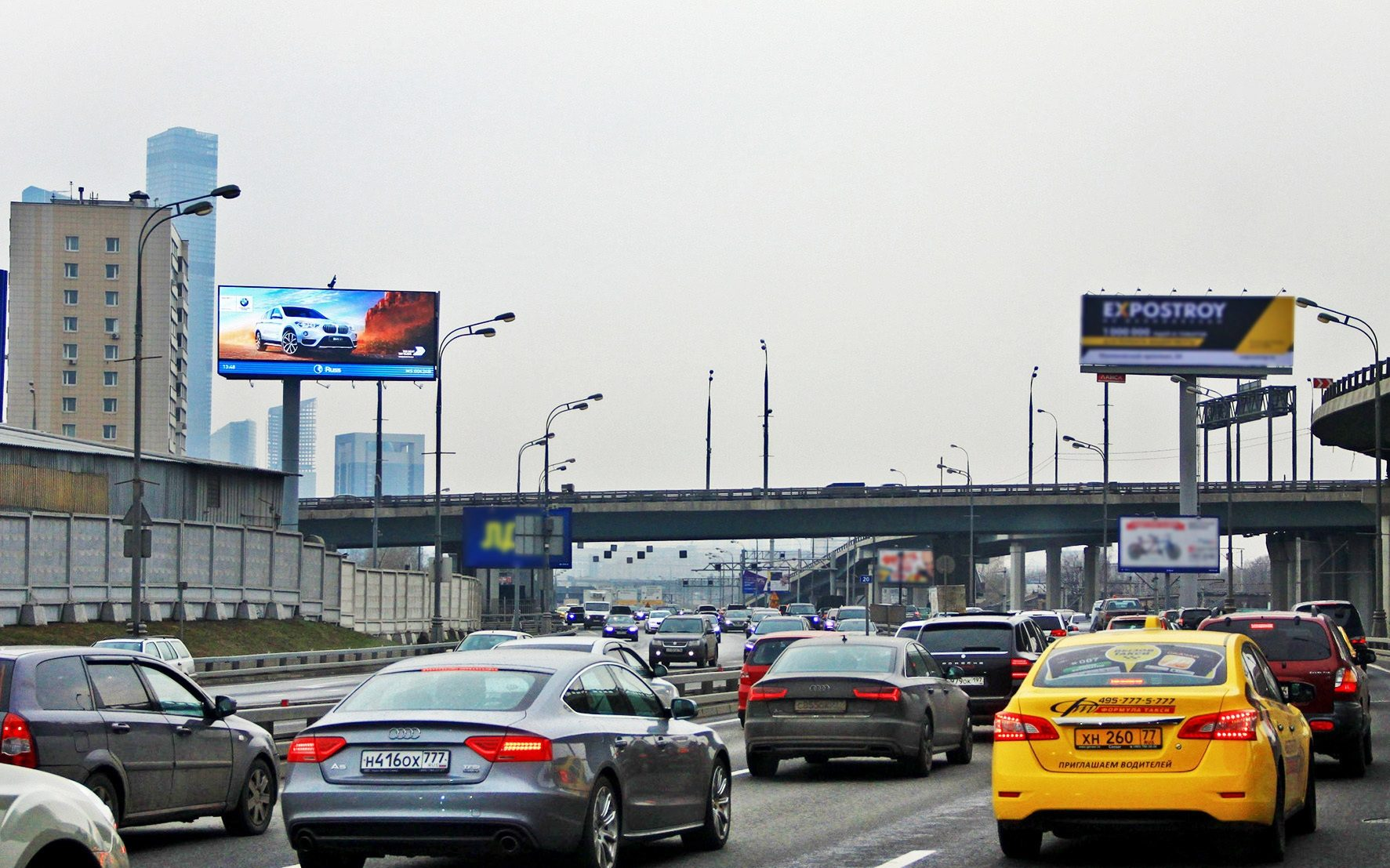 В Москве движение по ТТК ограничено почти на все лето